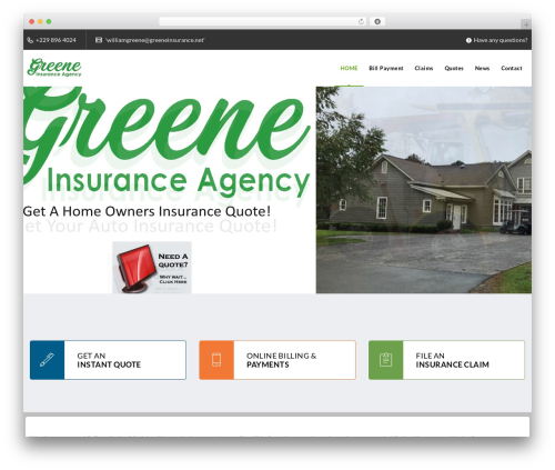 Veda WordPress template - greeneinsurance.net