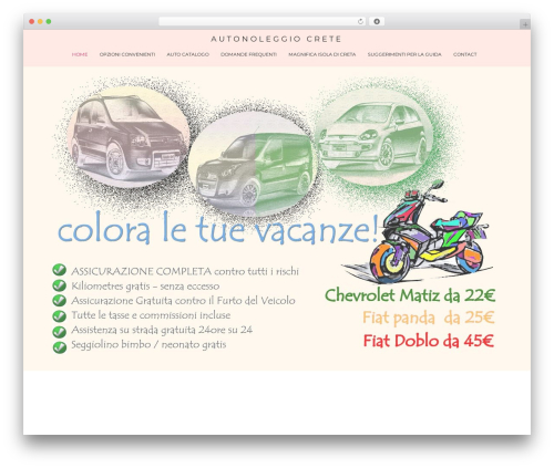 WordPress theme Spencer - autonoleggio-crete.com