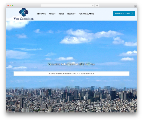 AGENT business WordPress theme - vier-consulting.net