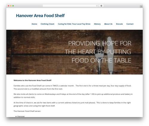 Ascension food WordPress theme - hanoverareafoodshelf.org
