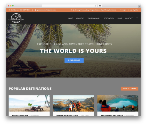 Best WordPress theme Aventura - goldenkomodo.com
