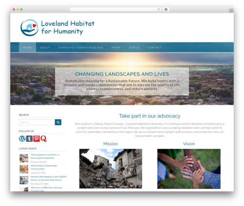 Panoramic premium WordPress theme - lovelandhabitatforhumanity.org