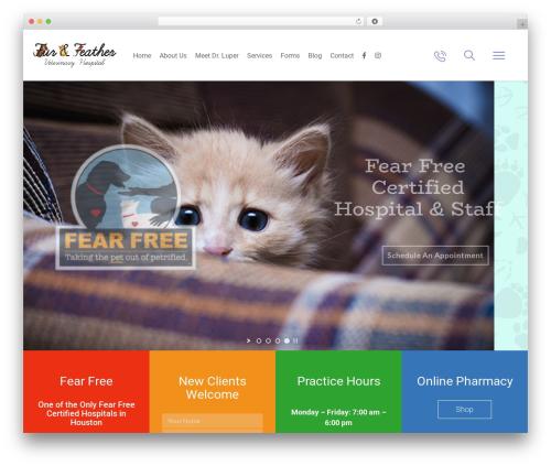 Pet Care WordPress theme - furandfeathervet.com