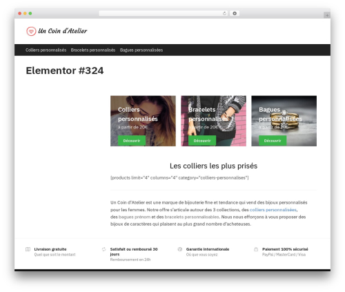 Shoptimizer WordPress shop theme - uncoindatelier.com