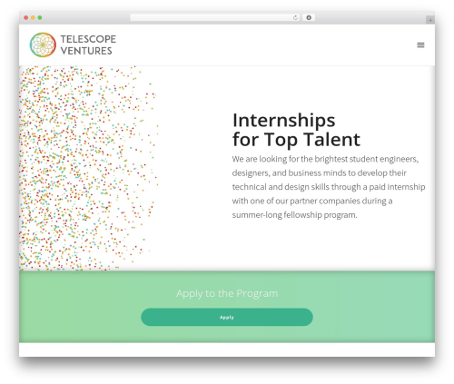 Telescope free WordPress theme - telescopeventures.com