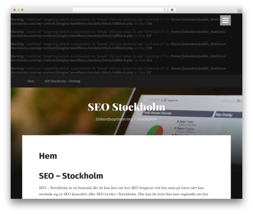 WordPress theme Garfunkel - seo-stockholm.com
