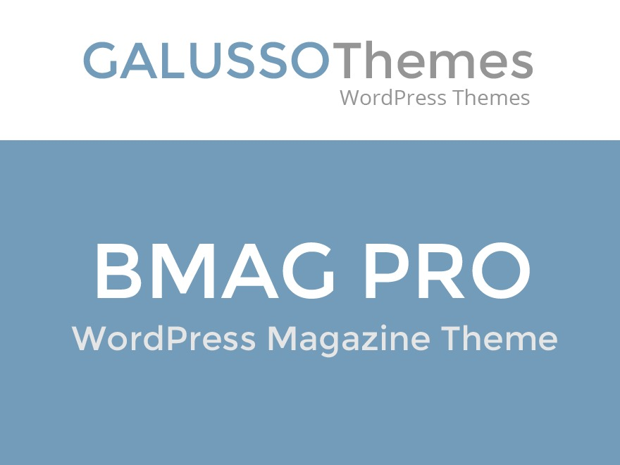 BMag Pro WordPress news theme