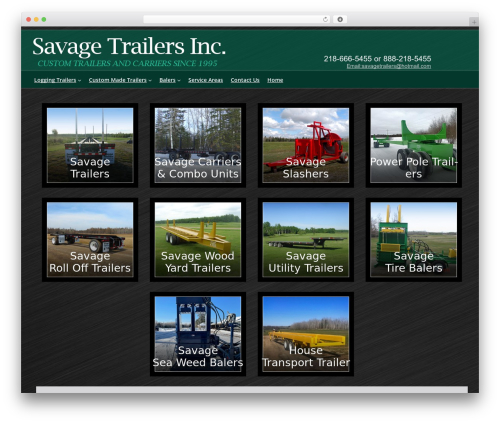 Cherry Framework best WordPress template - savagetrailersinc.com