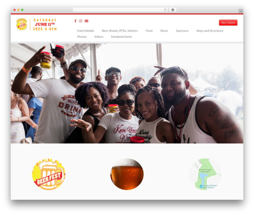 Customizr best free WordPress theme - atlantasummerbeerfestival.com