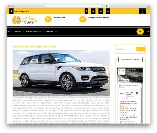 Driving School Lite WordPress page template - ozautosurfer.com