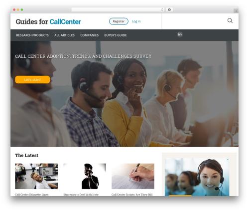Guides for CRM Wordpress Theme theme WordPress - guidesforcallcenter.com
