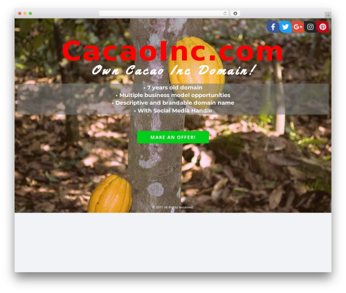 Socrates v5 WordPress theme - cacaoinc.com