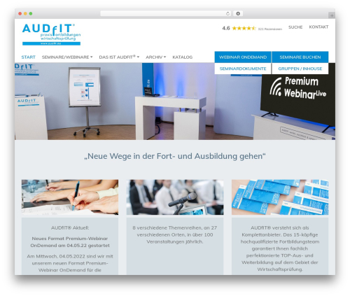 Template WordPress Startgarten - audfit.de