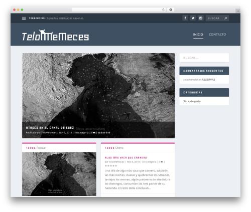 WordPress theme Extra - telomemeces.com