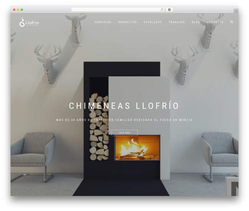 WordPress theme ShopIsle PRO - chimeneasllofrio.es