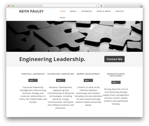 Best WordPress theme Minimum Child Theme - keithpauley.com