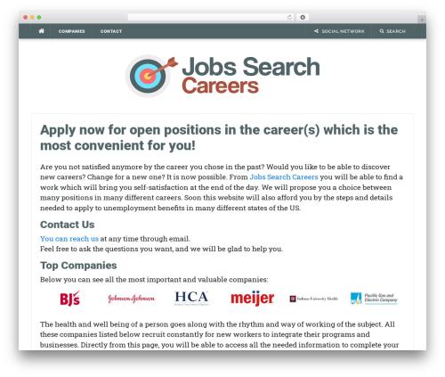 Codilight WordPress theme design - jobssearchcareers.com