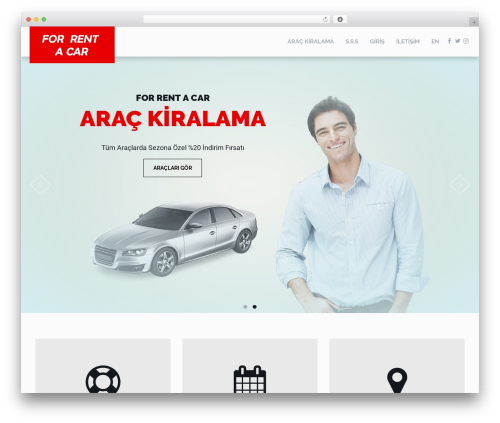 RentIt top WordPress theme - forrentacar.com