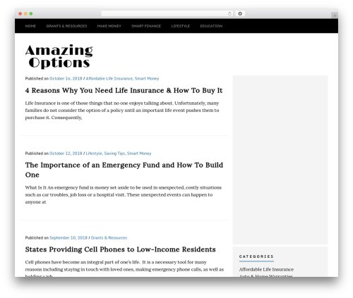Template WordPress Sense - amazingoptions.net