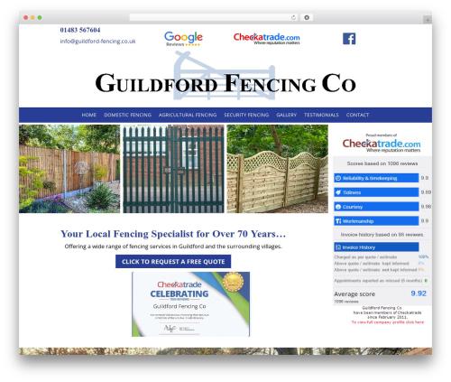 Theme WordPress Divi - guildford-fencing.co.uk