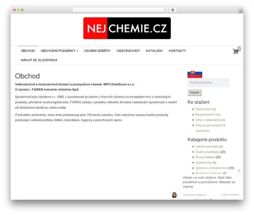 Theme WordPress Envo Store - nejchemie.cz