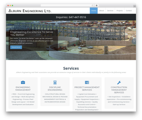 WordPress theme BusiProf Pro - alburnengineering.com