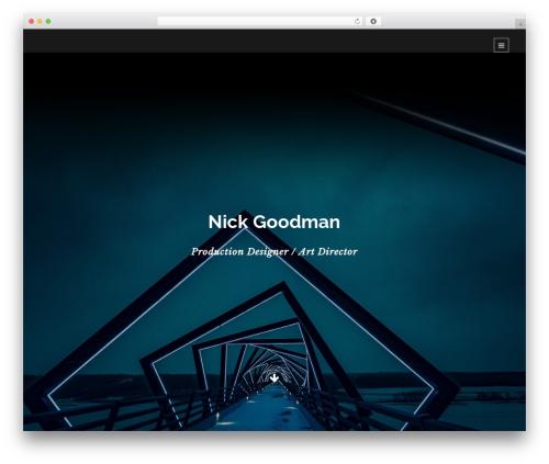 WordPress website template Lumos - nickgoodman.com