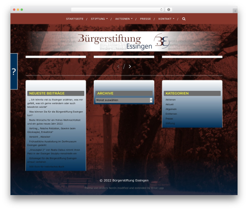 Hitchcock WordPress template - essingerbuergerstiftung.de