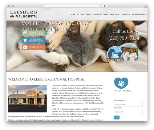 Sanitorium WordPress theme - leesburgah.com