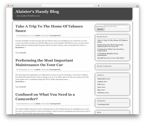 AuthorTheme WordPress theme design - alaisterbjackson.com