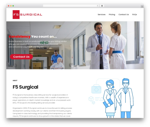 Best WordPress template Revolution - f5surgical.com
