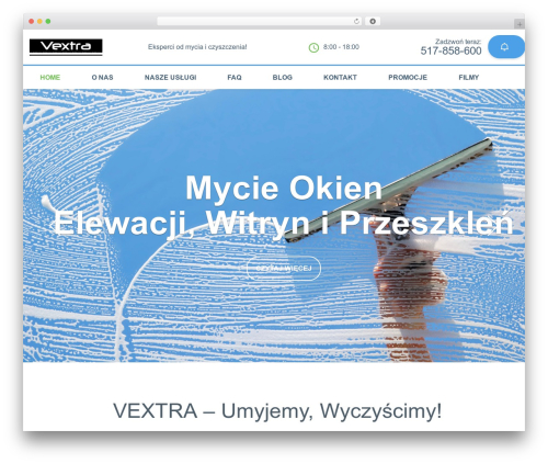 Cleaning Services template WordPress - vextra.pl