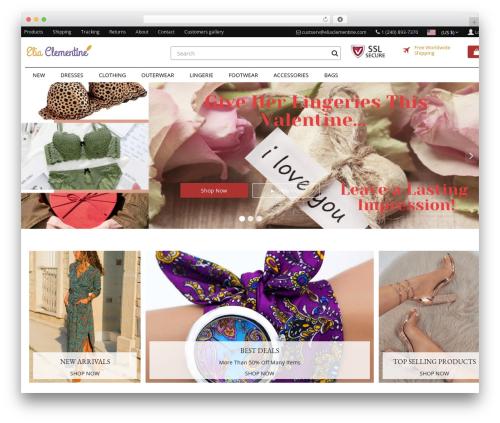 Rembrandt WordPress shop theme - eliaclementine.com
