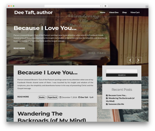 Writer Blog WordPress theme - deetaft.com