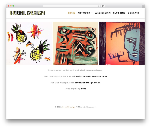 Create WP template - brehldesign.com