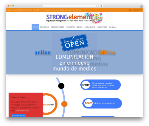 Template WordPress AccessPress Staple Pro - strongelement.com