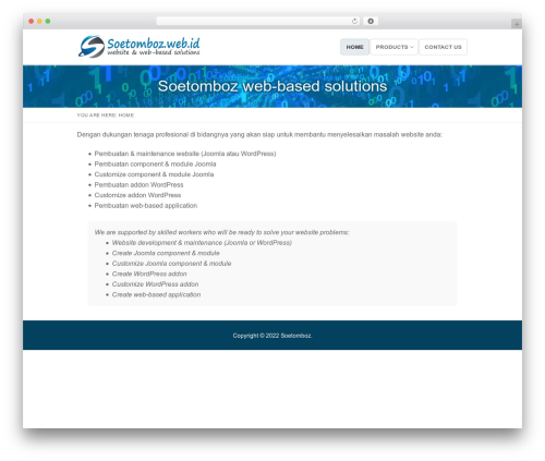 WordPress website template Customify - soetomboz.web.id