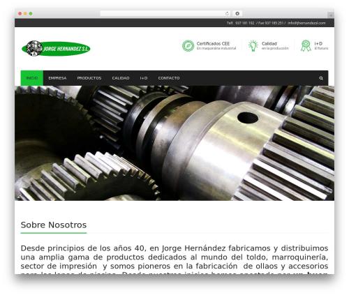 WordPress website template Industry - jhernandezsl.com