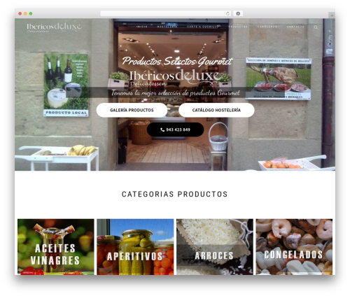 WordPress website template ShopIsle PRO - ibericosdeluxe.com