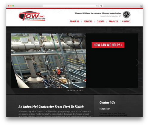 Best WordPress theme Anvil Framework - tcw-inc.com