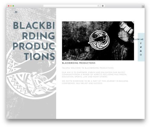 Best WordPress theme One Page Portfolio - blackbirding.com