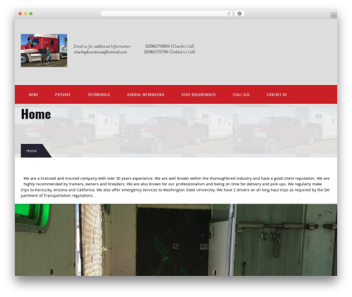Best WordPress theme TM Transport - charliegibsonhorse.com