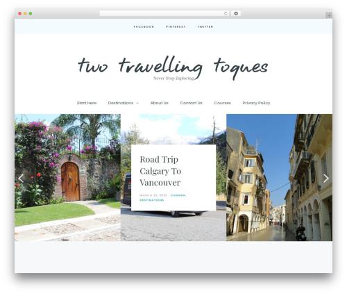 Carbis WordPress theme - twotravellingtoques.com