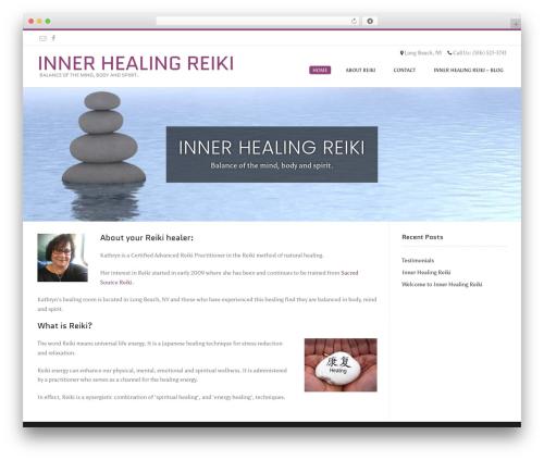 Conica free WordPress theme - innerhealingreiki.com