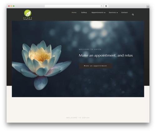 Luxury Spa theme WordPress - oryzadayspa.com