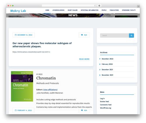 Sciencex Lite template WordPress - mokrylab.org