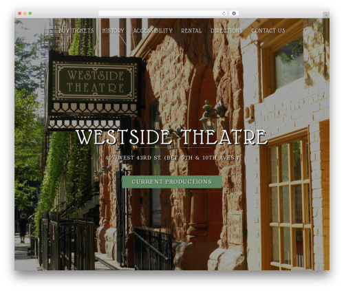 Sydney best WordPress theme - westsidetheatre.com