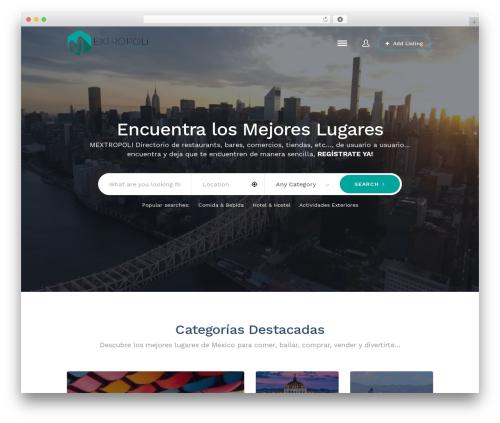 Theme WordPress ListingEasy - mextropoli.com