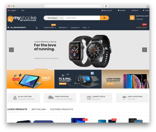 WordPress theme OneMall - myshopke.com