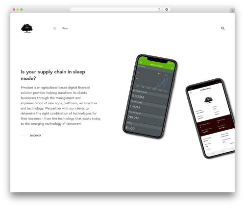 WordPress website template Revolution - mwaloni.com